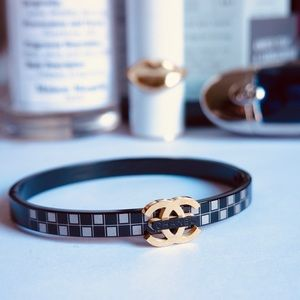 Chanel bracelet black golden